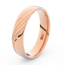 Pánský snubní prsten z růžového zlata, DLR3045