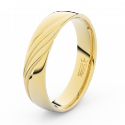 Pánský snubní prsten ze žlutého zlata, Danfil DLR3045