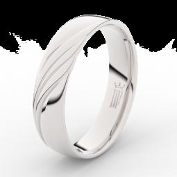 Pánský snubní prsten z bílého zlata Danfil DLR3045
