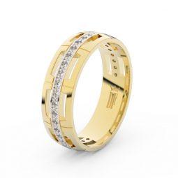 Dámský snubní prsten ze žlutého zlata se zirkony, Danfil DLR3048