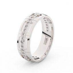 Dámský snubní prsten z bílého zlata se zirkony, Danfil DLR3048
