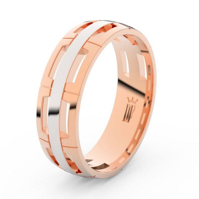 Pánský snubní prsten z růžového zlata, Danfil DLR3049