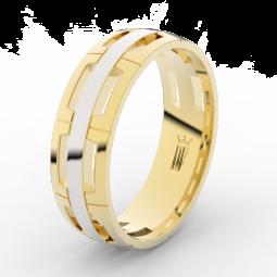 Pánský snubní prsten ze žlutého zlata, Danfil DLR3049