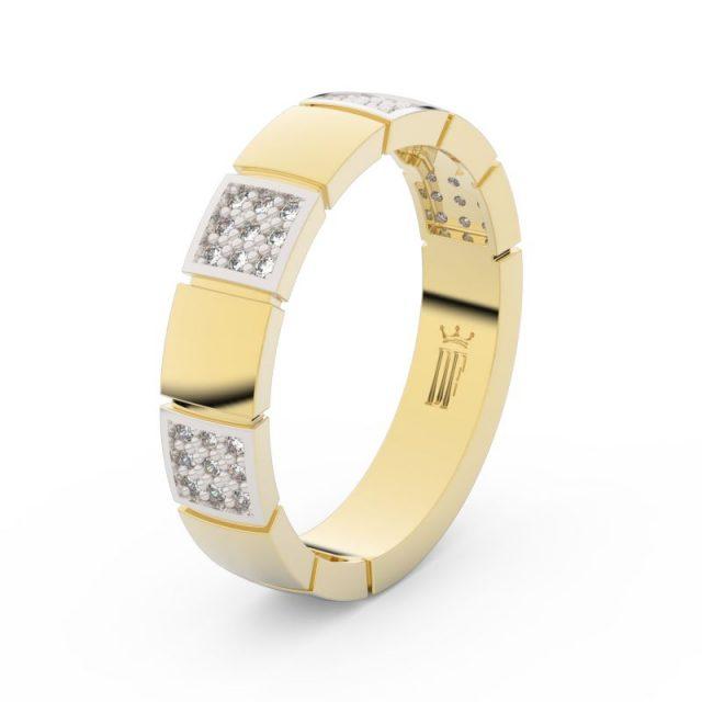 Dámský snubní prsten ze žlutého zlata se zirkony, Danfil DLR3057