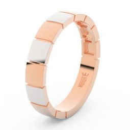 Pánský snubní prsten z růžového zlata, DLR3058