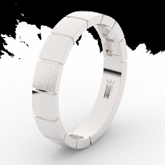 Pánský snubní prsten z bílého zlata Danfil DLR3058