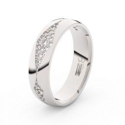 Dámský snubní prsten z bílého zlata se zirkony, Danfil DLR3074