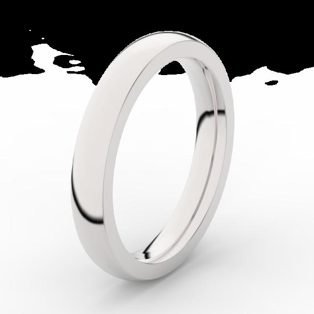 Pánský snubní prsten z bílého zlata Danfil DLR3884
