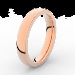 Pánský snubní prsten z růžového zlata, DLR3885