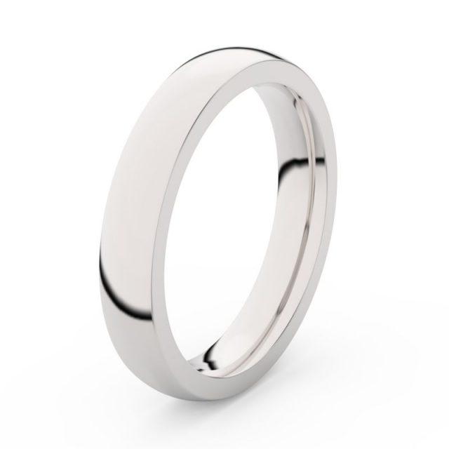 Pánský snubní prsten z bílého zlata Danfil DLR3885
