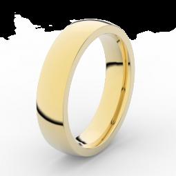 Pánský snubní prsten ze žlutého zlata, Danfil DLR3887