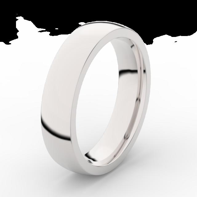 Pánský snubní prsten z bílého zlata Danfil DLR3887