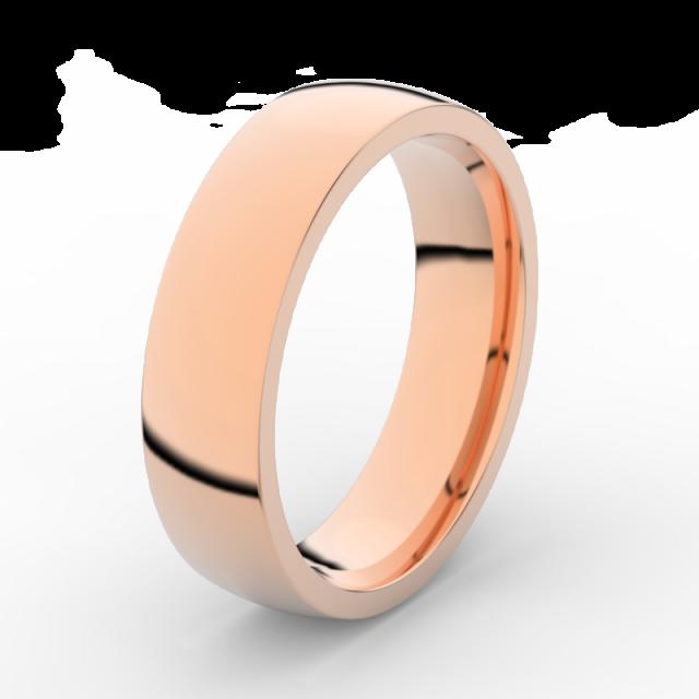 Pánský snubní prsten z růžového zlata, DLR3498