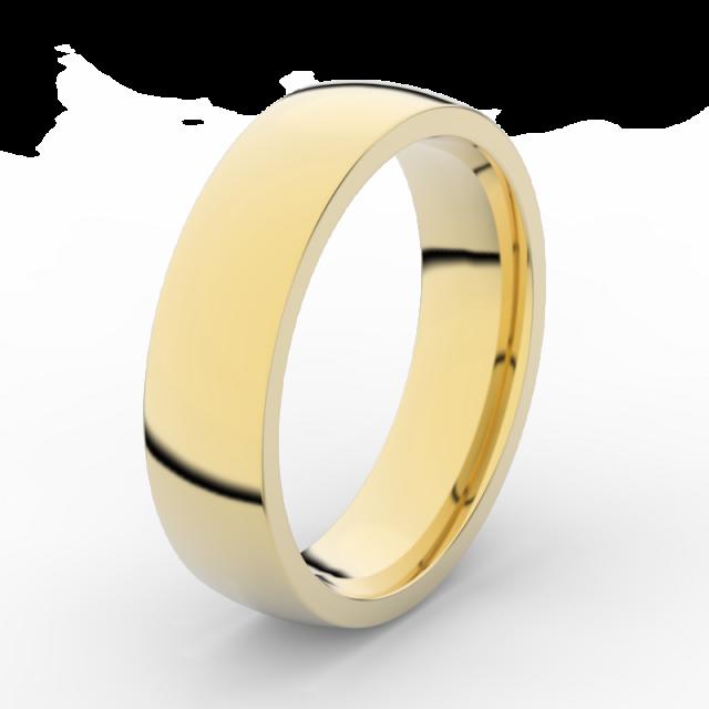 Pánský snubní prsten ze žlutého zlata, Danfil DLR3498