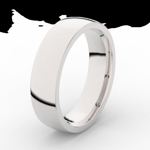 Pánský snubní prsten z bílého zlata Danfil DLR3498