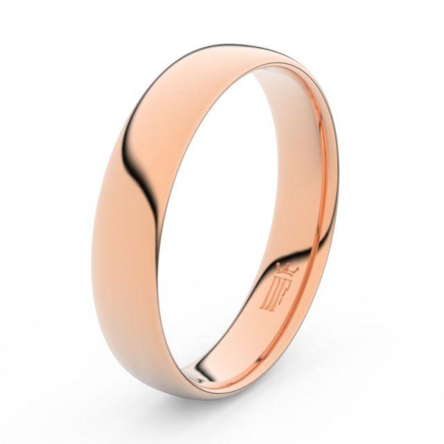 Snubní prsten z růžového zlata Danfil