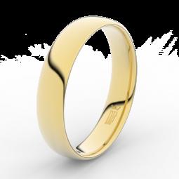 Snubní prsten ze žlutého zlata 585/1000 Danfil