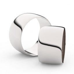 Snubní prsteny z bílého zlata - pár, 11 mm, Danfil DF 9C110