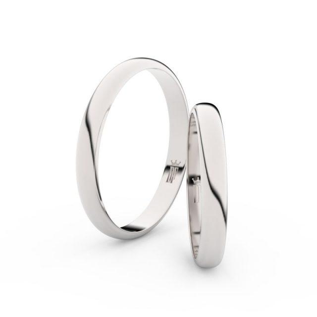 Snubní prsteny z bílého zlata – pár, 2.9 mm, Danfil DF 4F30