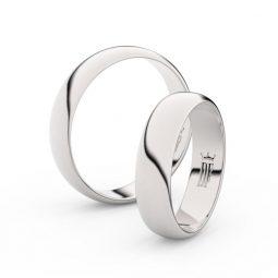 Snubní prsteny z bílého zlata - pár, 4.7 mm, Danfil DF 2E50