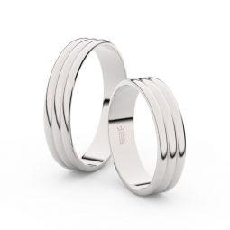 Snubní prsteny z bílého zlata - pár, 4.7 mm, Danfil DF 4J47