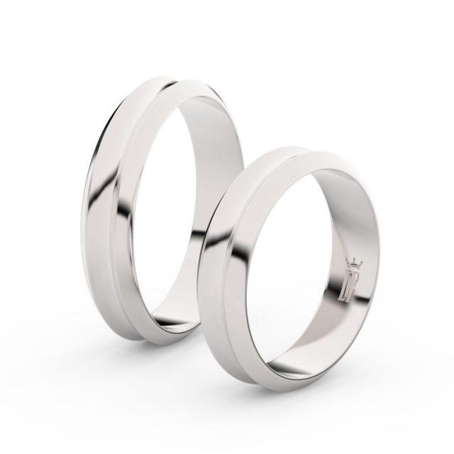 Snubní prsteny z bílého zlata, 4.8 mm, pár – Danfil DF 4B45