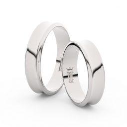 Snubní prsteny z bílého zlata - pár, 5 mm, Danfil DF 5A50