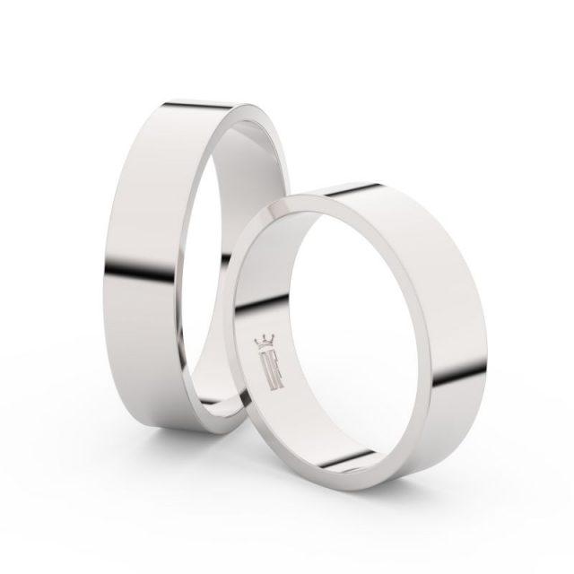 Snubní prsteny z bílého zlata – pár, 5 mm, Danfil DF 1G50