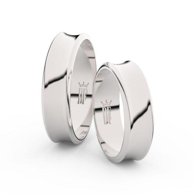Snubní prsteny z bílého zlata – pár, 5.6 mm, Danfil DF 5C57