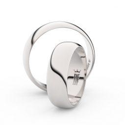 Snubní prsteny z bílého zlata - pár, 6 mm, Danfil DF 3A60
