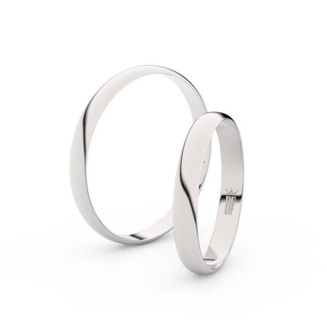 Snubní prsteny z bílého zlata – pár, Danfil DF 4E30