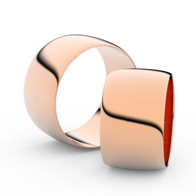 Snubní prsteny z růžového zlata, 11 mm, pár – Danfil DF 9C110