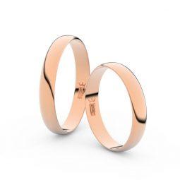 Snubní prsteny z růžového zlata, 3.4 mm, pár - Danfil DF 4C35