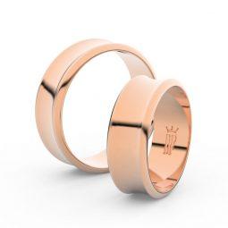 Snubní prsteny z růžového zlata, 6.65 mm, pár - Danfil DF 5B70