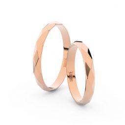 Snubní prsteny z růžového zlata, pár, Danfil DF 8B30