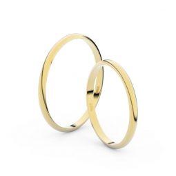 Snubní prsteny ze žlutého zlata - pár, 1.7 mm, Danfil DF 4I17