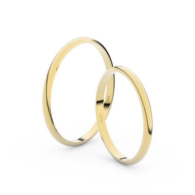 Snubní prsteny ze žlutého zlata – pár, 1.7 mm, Danfil DF 4I17