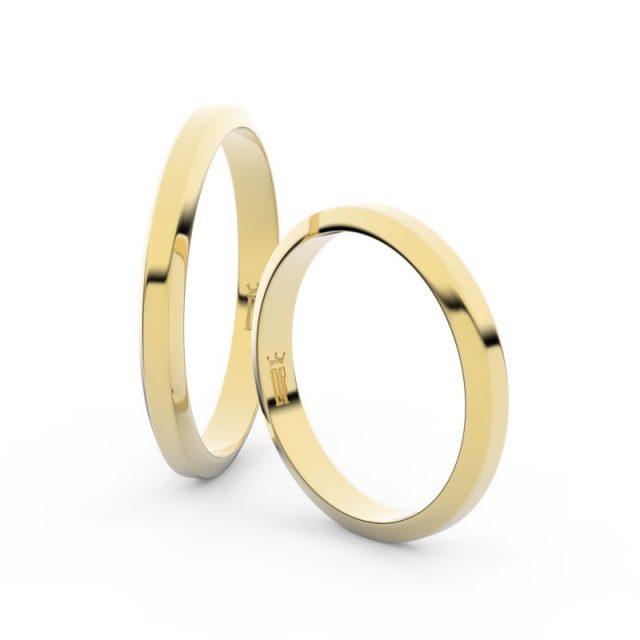 Snubní prsteny ze žlutého zlata – pár, 2.7 mm, Danfil DF 6A30