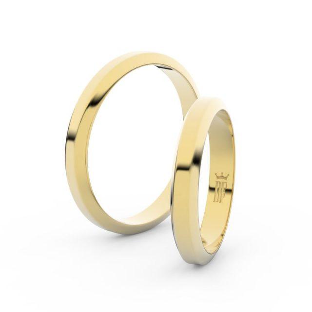 Snubní prsteny ze žlutého zlata – pár, 3.15 mm, Danfil DF 6B32