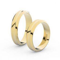 Snubní prsteny ze žlutého zlata - pár, 4.8 mm, Danfil DF 4B45