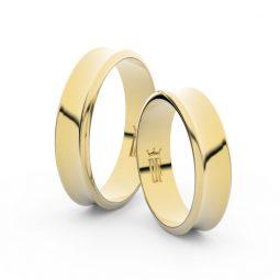 Snubní prsteny ze žlutého zlata - pár, 5 mm, Danfil DF 5A50