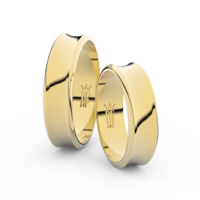 Snubní prsteny ze žlutého zlata – pár, 5.6 mm, Danfil DF 5C57