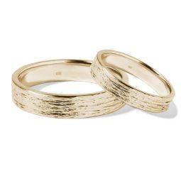 Snubní prsteny ze žlutého zlata KLENOTA