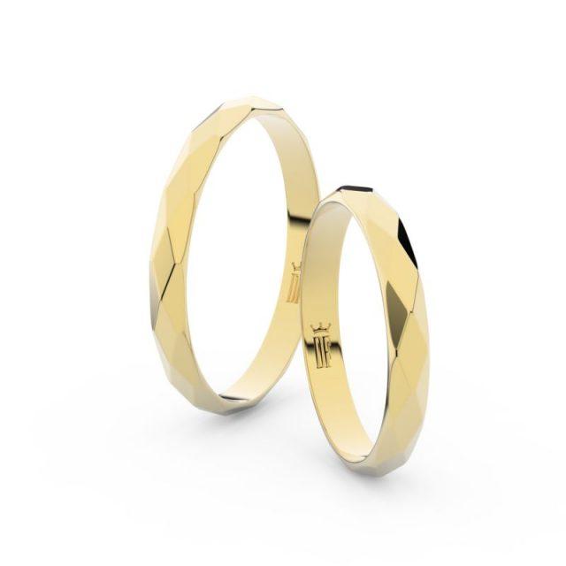 Snubní prsteny ze žlutého zlata – pár, Danfil DF 8B30