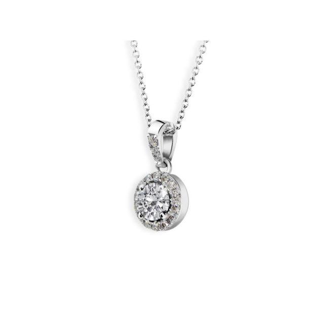 Přívěsek z bílého zlata s diamanty, Danfil DF 3099