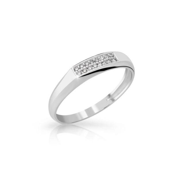 Zásnubní prsten z bílého zlata s diamanty, Danfil DF 2838B