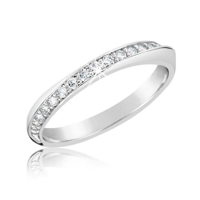 Zásnubní prsten z bílého zlata s diamanty, Danfil DF 2928B
