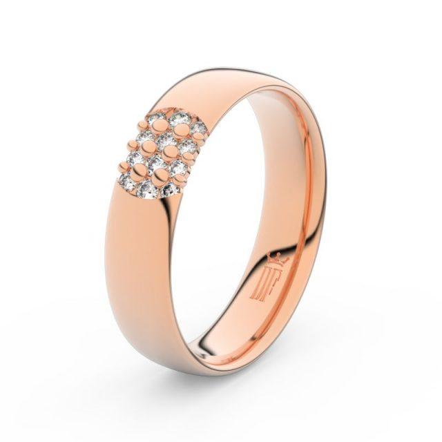 Dámský snubní prsten  z růžového zlata a diamanty, Danfil DF 3021