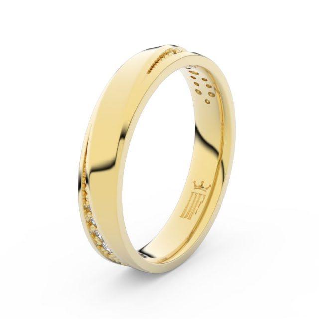 Dámský snubní prsten ze žlutého zlata s diamanty Danfil DF 3025
