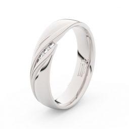 Dámský snubní prsten z bílého zlata s diamanty Danfil DF 3044